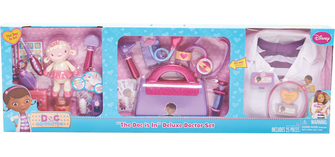 Doc Mcstuffin Deluxe Doctor Set 3in1 Exclusive Kids George At Asda