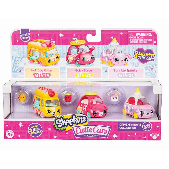 Shopkins Cutie Cars 3 Pack Movie Collection Toys Character