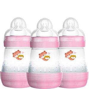Mam Easy Start Anti-Colic Bottle 160ml 3pk Girl New