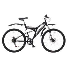 Boss Blackdawn 26ins Mens 21 Speed Dual Suspension Double Disc Bike