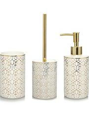 gold geometric bathroom accessories range