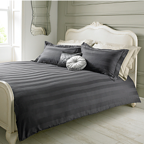 Elegant Living Duvet Set Charcoal Damask Stripe - King