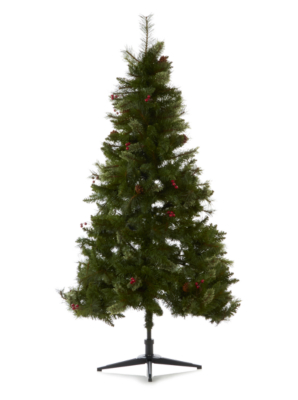 6ft Cashmere Cone And Berry Christmas Tree