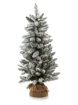 3ft Pre Lit Snowy Christmas Tree