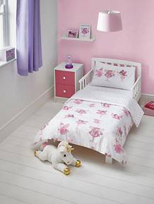 Fairy Print Easy Care Reversible Duvet Set - Toddler