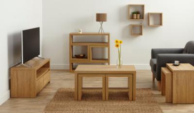 Leighton Living Room Furniture Range Oak Effect Living Room