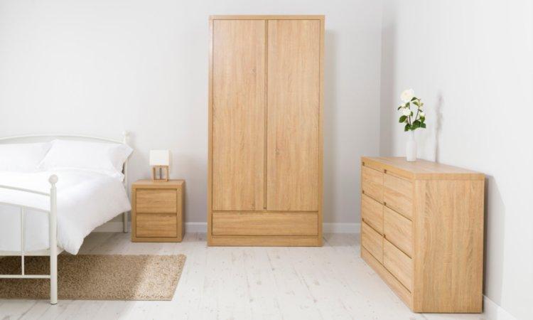 Leighton Bedroom Furniture Range - Oak Effect
