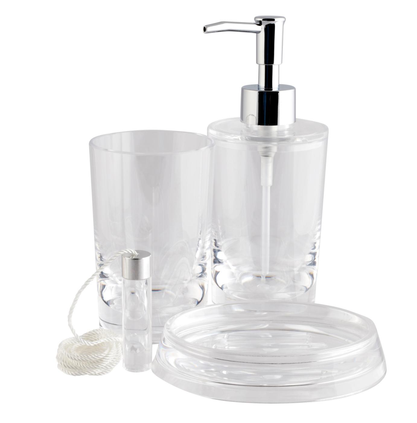 Clear Acrylic Bath Accessories Range Bathroom Accessories