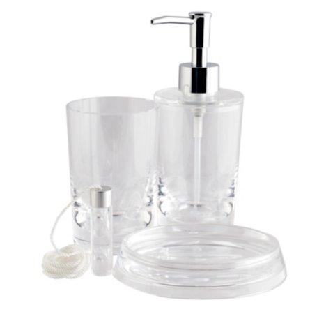 Clear Acrylic Bath Accessories Range