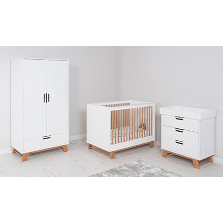 sharp groovy white bedroom inspiration furniture | Alfie Nursery Furniture Range - Oak Effect and White ...