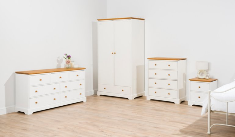 Gilmore Bedroom Furniture Range - Two Tone