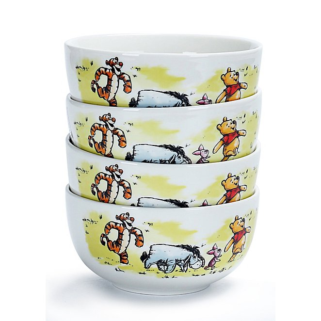 Disney Winnie The Pooh Bowls Set Of 4 George At Asda