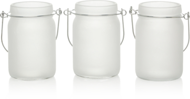 Shoptagr Frosted Glass Jar Tealight Holders 3 Pack By Asda