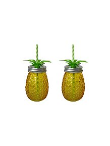 20700de505ec Yellow Pineapple-shaped Mason Jar - 2-pack