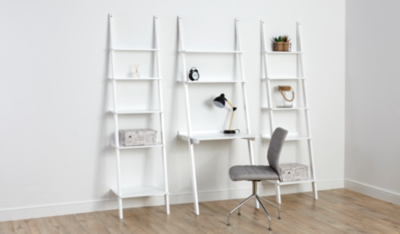 Tamsin Shelving Unit and Desk White Desks Office Storage