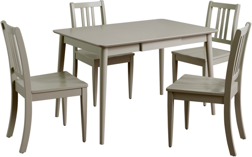 sadie dining table & 4 chairs - grey | dining tables & chairs