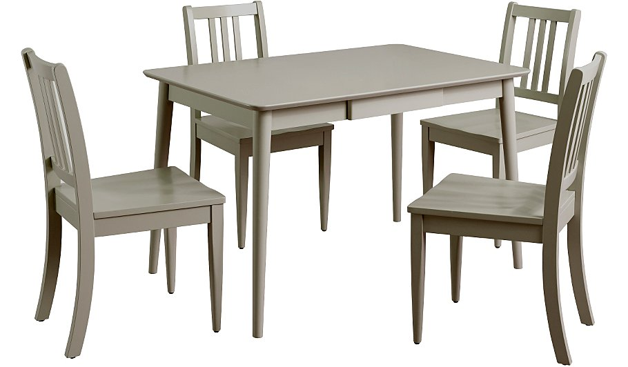 Sadie Dining Table & 4 Chairs - Grey | Dining Tables & Chairs ...