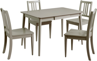 Grey Table And Chairs Part - 22: Sadie Dining Table U0026 4 Chairs - Grey | Dining Tables U0026 Chairs | George At  ASDA
