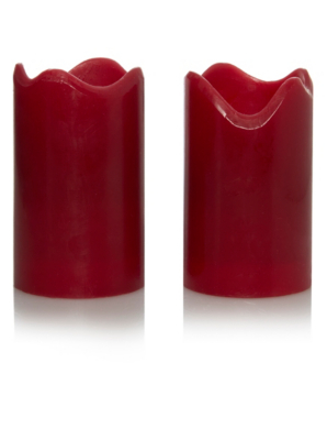 George Home Led Red Pillar Candle 2 Pack Candles Home Fragrance George At Asda