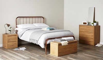 Valerie Copper Bed Double Beds George at ASDA