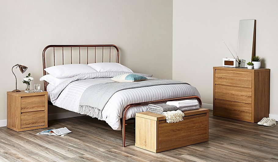 Valerie Copper Bed - Double | Beds | George at ASDA
