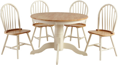 Yvette Circular Dining Table And 4 Chairs   Oak Effect And Cream | Dining  Tables U0026 Chairs | George At ASDA