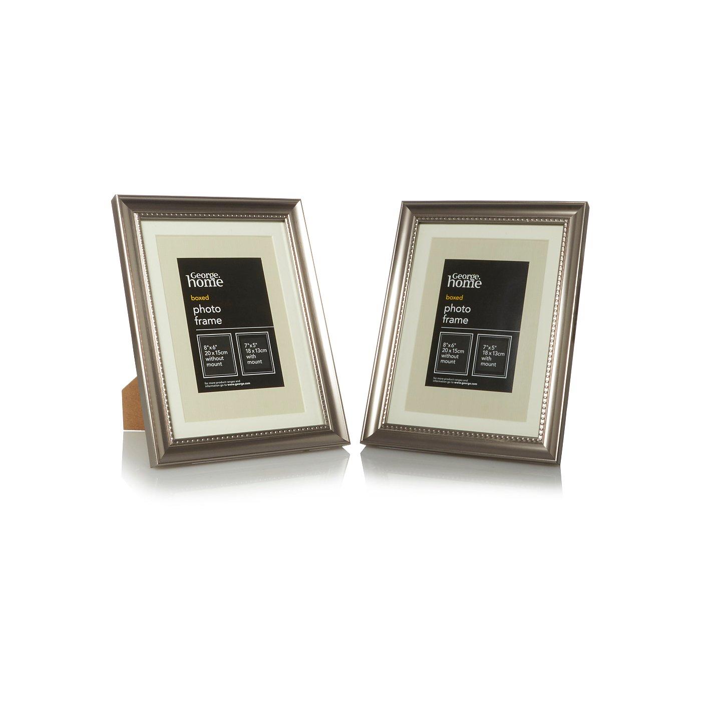 Beaded Silver Photo Frame Range | Photo Frames | George at ASDA