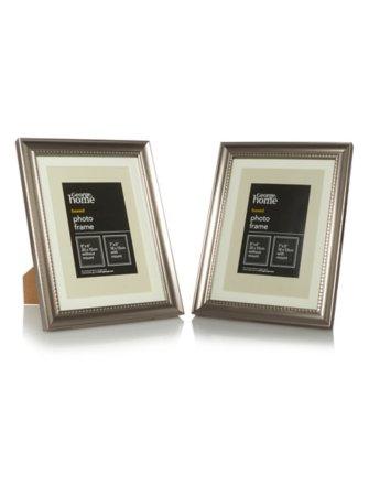 Beaded Silver Photo Frame Range