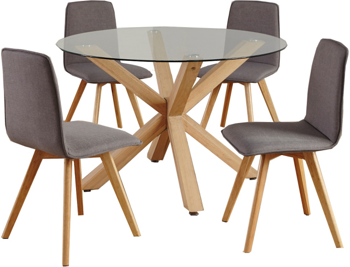 Winston Circular Dining Table and 4 Chairs Dining Tables  : BUN17JAM002hei532ampwid910ampqlt85ampfmtpjpgampresmodesharpampopusm110 from direct.asda.com size 910 x 532 jpeg 64kB