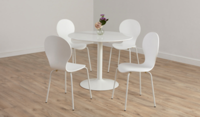 Wyatt Circular Dining Table   White