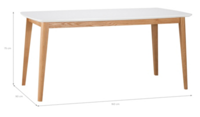 Brooklyn Rectangular Dining Table   Oak And White.  Hide Details