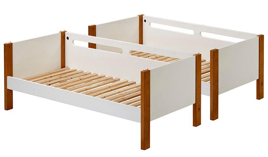 Alfie detachable bunk bed two tone kids beds george for Detachable bunk beds