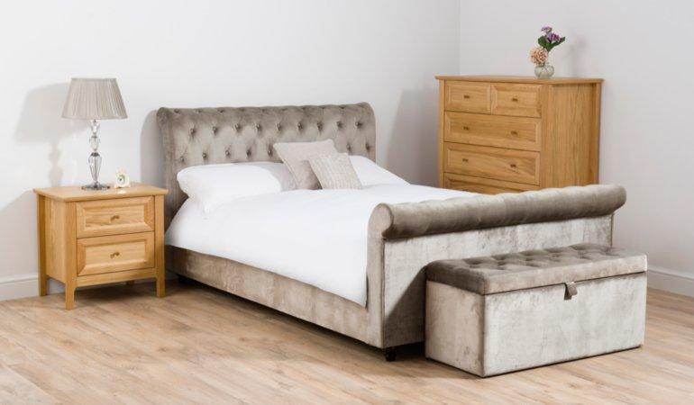 Suzette Pewter Double Furniture Set