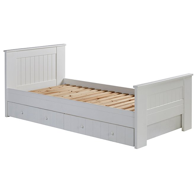 Finley Single Bed With Storage White