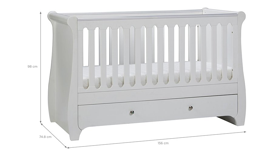 Jessica Cot Bed White Hide Details