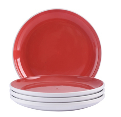 Red Two-tone Dinner Plates - Set of 4  sc 1 st  Asda & Red Two-tone Dinner Plates - Set of 4 | George