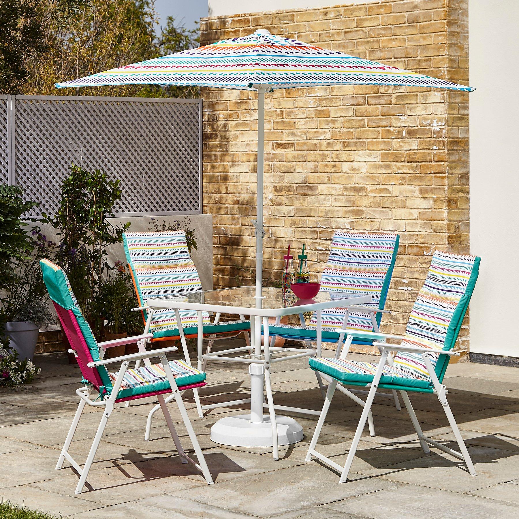 Miami 6 piece patio set with cushions tropical tango