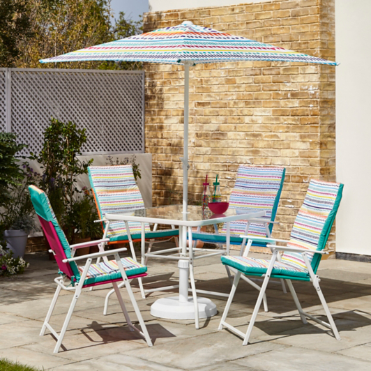 Miami 6 Piece Patio Set With Cushions Tropical Tango