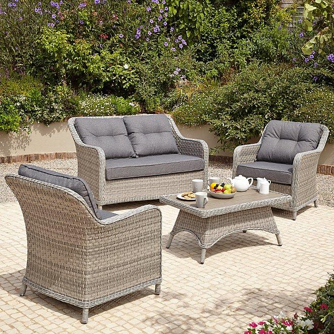 Remarkable Venice 4 Piece Garden Sofa Set Inzonedesignstudio Interior Chair Design Inzonedesignstudiocom
