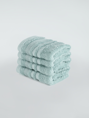 Marine Blue Egyptian Cotton Face Cloth - 4 Pack