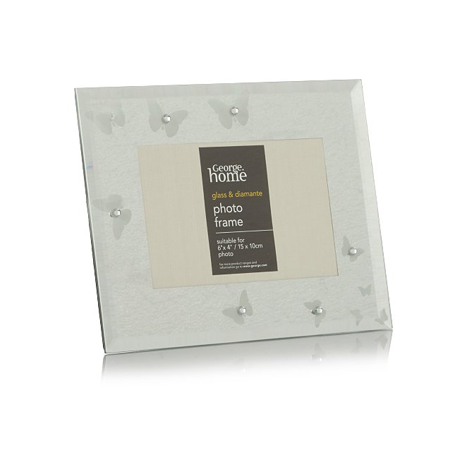 a6208d63074 Erfly Gem Glass Photo Frame 6x4 Inch 2 Pack George