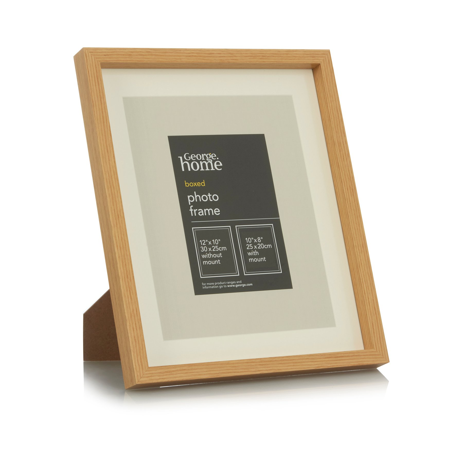 Light Wood Boxed Photo Frame 10x8 Inch