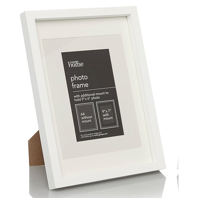 White Boxed Photo Frame 9x7 Inch 2 Pack