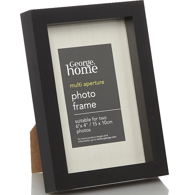 Black Boxed Photo Frame 6 X 4 Inch