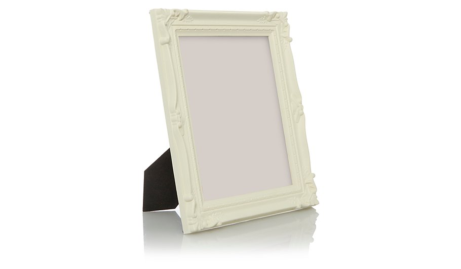 Cream Baroque Photo Frame 10x8 Inch 2 Pack | George
