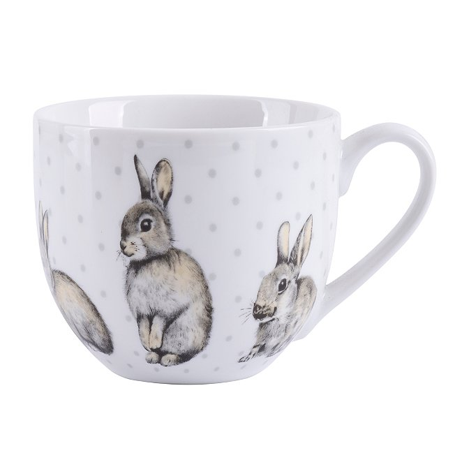 Rabbit Mugs Set Of 2