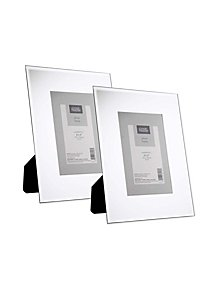 87d4d0f798d Mirrored Frame 6x4inch 2 Pack