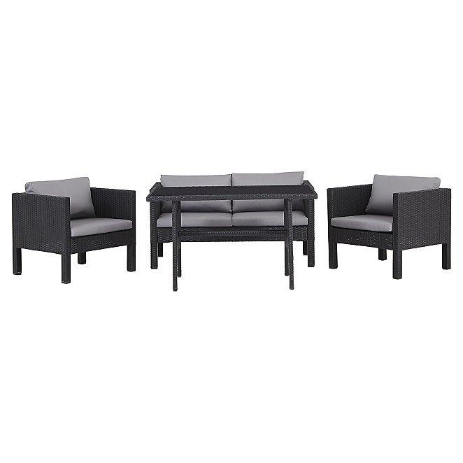 Super Orlando 4 Piece Garden Dining Set Inzonedesignstudio Interior Chair Design Inzonedesignstudiocom