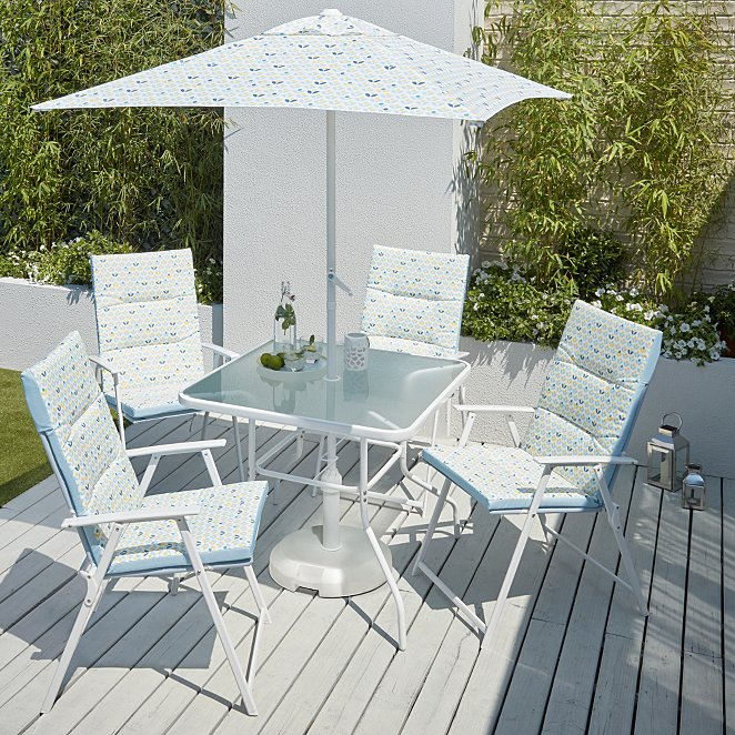 Miami 6 Piece Patio Set With 4 Pack Seat Cushions Lemon Soul
