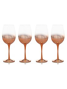 80f5d9e9704c Copper Fade-effect Wine Glasses - 4-pack